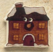 43091 - Snow Covered House - 1in x 1in